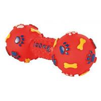 Trixie TX-3362 Гантель шипованная с пищалкой для собак 19см