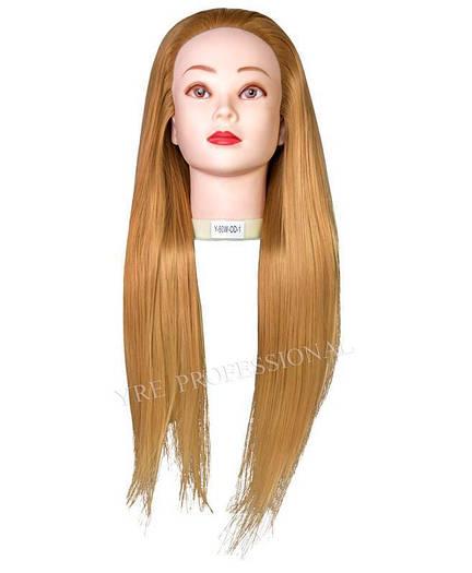 Голова учебная (иск. термо. волосы) 528-27#