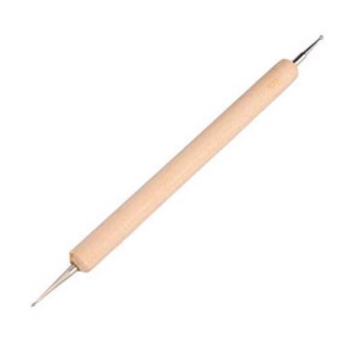 Дотс двухсторонний с деревянной ручкой 1шт