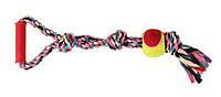 Trixie TX-3280 канат с узлами,мячем и ручкой 50см-игрушка для собак, фото 2