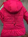 """Детская демисезонная куртка на девочку """"Значки"""". Размеры 26 -32, фото 4"""