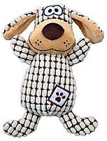 Trixie  TX-35977 собака в клеточку  26см-игрушка для собак