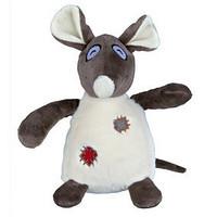 Trixie TX-35961 крыса с заплатками с пищалкой-  игрушка  для собак 16см