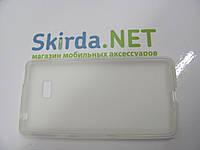 Чехол-накладка для HTC Desire 600 силиконовый белый