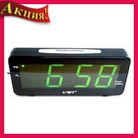 Часы электронные настольные VST 763T-2 Зеленая подсветка!Акция