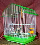 Клетка для мелких птиц. 37*28*48см. (эмаль), фото 4