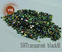 Камни Сваровски (SS6Transparent blackAB) 1440шт