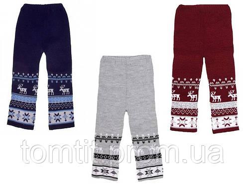 """Детские шерстяные, теплые брюки """"Олени"""", для мальчика, оптом, фото 2"""