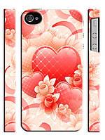 Чехол для iPhone 5/5s сердечки романтика