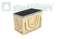 Дощоприймальний колодязь секційний CompoMax ДК-30.38.44-П-В полімербетонний з решіткою щілинною чавунною ВЧ кл