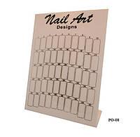 Планшет для образ дизайна ногтей чер-бел