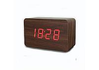 Настольные часы с красной подсветкой VST-863-1