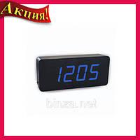 Настольные часы с синей подсветкой VST-865-5!Акция