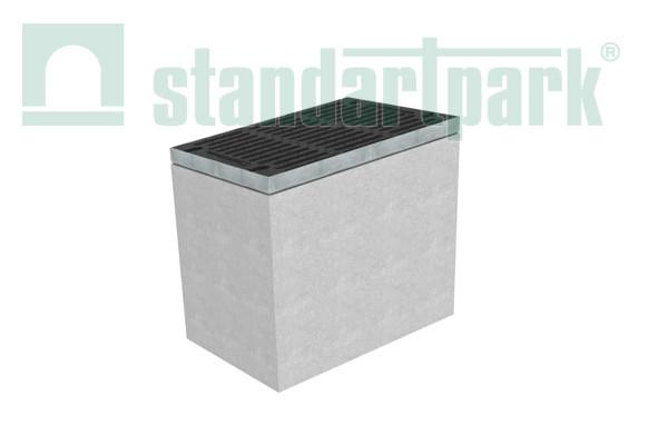 Дощоприймальний колодязь секційний BetoMax ДК-50.64.65-Б-В бетонний (верхня частина) 4970/1