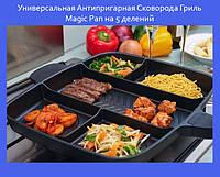 Универсальная Антипригарная Сковорода Гриль Magic Pan на 5 делений