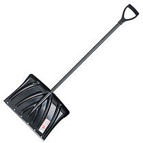 Лопата для уборки снега 460*340мм с ручкой 1300 мм INTERTOOL FT-2021, фото 3