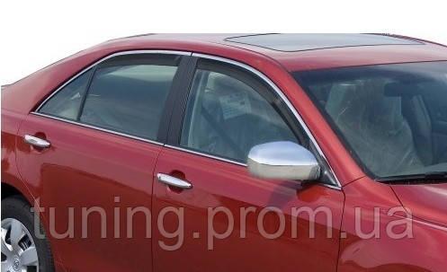 Дефлекторы окон (ветровики) Toyota Camry V50 2012-on