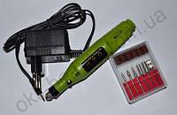 Фрезер-ручка для маникюра и педикюра (20 000 об., зеленая)