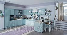 Голубая кухня в стиле прованс из натурального дерева BARCHESSA фабрика AR-TRE (Италия)