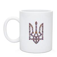 Чашка с орнаментным гербом Украины