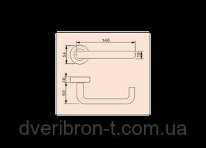 Дверная ручка S-1115 SS (нержавеющая сталь), фото 2