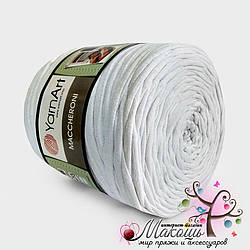 Пряжа для вязания ковриков Maccheroni Yarnart, белый