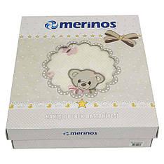 Плед Merinos акриловый апликация 100*118 100*118 3