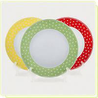 Набор фарфоровых тарелок MR-10032-04G