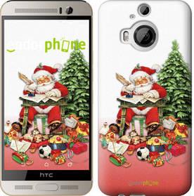 """Чехол на HTC One M9 Plus Дед Мороз с подарками """"219u-134-450"""""""