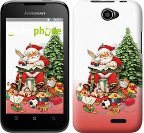 "Чехол на Lenovo A66 Дед Мороз с подарками ""219u-290-450"""