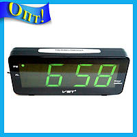 Часы электронные настольные VST 763T-2 Зеленая подсветка!Опт