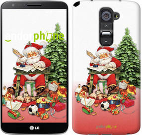"""Чехол на LG G2 Дед Мороз с подарками """"219u-37-450"""""""