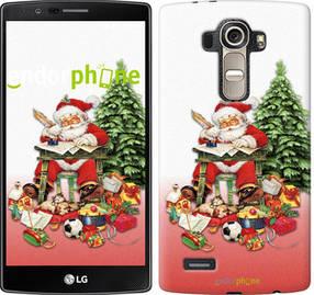 """Чехол на LG G4 H815 Дед Мороз с подарками """"219u-118-450"""""""