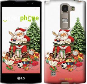 "Чехол на LG Spirit Dual H422 Дед Мороз с подарками ""219u-245-450"""