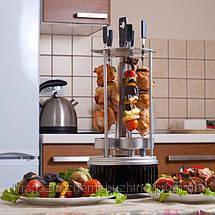 Электрошашлычница Domotec BBQ (Домотек) 6 шампуров вертикальная, фото 2
