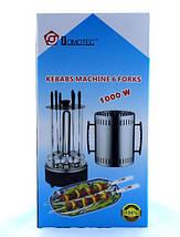 Электрошашлычница Domotec BBQ (Домотек) 6 шампуров вертикальная, фото 3