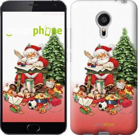"""Чехол на Meizu MX5 Дед Мороз с подарками """"219c-105-450"""""""