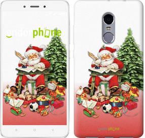 "Чехол на Xiaomi Redmi Note 4 Дед Мороз с подарками ""219c-352-450"""
