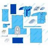 Комплект одягу та покриттів операційних хірургічний №5/В (ХL) «Славна®» (шапочка-берет медична - 3 шт (спанбонд - 13 г/м2 ) ; маска медична тришарова