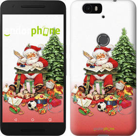 "Чехол на Huawei Nexus 6P Дед Мороз с подарками ""219c-148-450"""