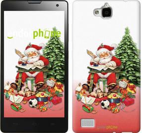 """Чехол на Huawei Honor 3C Дед Мороз с подарками """"219u-307-450"""""""