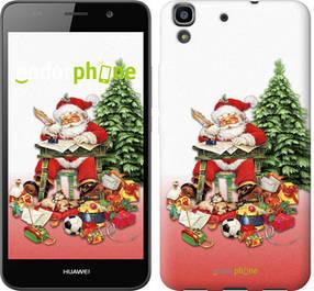"Чехол на Huawei Y6 Дед Мороз с подарками ""219c-333-450"""