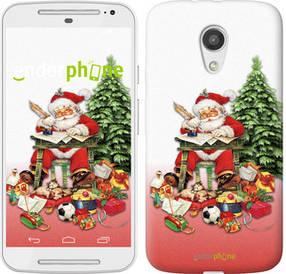 "Чехол на Motorola Moto G2 Дед Мороз с подарками ""219u-330-450"""
