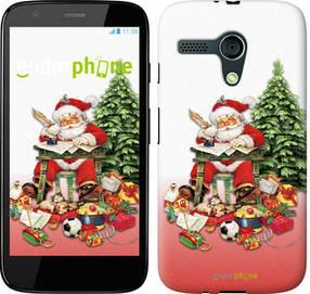 "Чехол на Motorola Moto G Дед Мороз с подарками ""219u-366-450"""