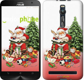 """Чехол на Asus Zenfone 2 ZE551ML Дед Мороз с подарками """"219c-122-450"""""""