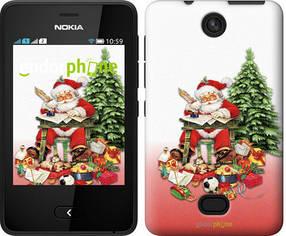 "Чехол на Nokia Asha 501 Дед Мороз с подарками ""219u-209-450"""