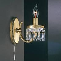 Бра reccagni angelo a 4651/1 бронза/свечи/хрусталь