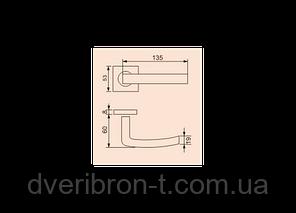 Дверная ручка S-1134 SS (нержавеющая сталь), фото 2