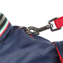 "Дождевик-попона  ""Genova"" для собак, 33см синий, фото 2"