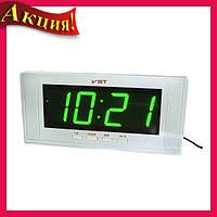 Настольные часы с зеленой подсветкой VST-729-2!Акция